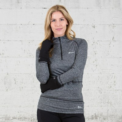 Women ZipT Battery Heated Baselayer Top