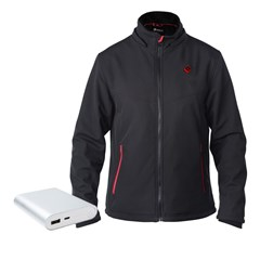 ESCAPE Soft Shell Heated Jacket, incl. USB Power Bank